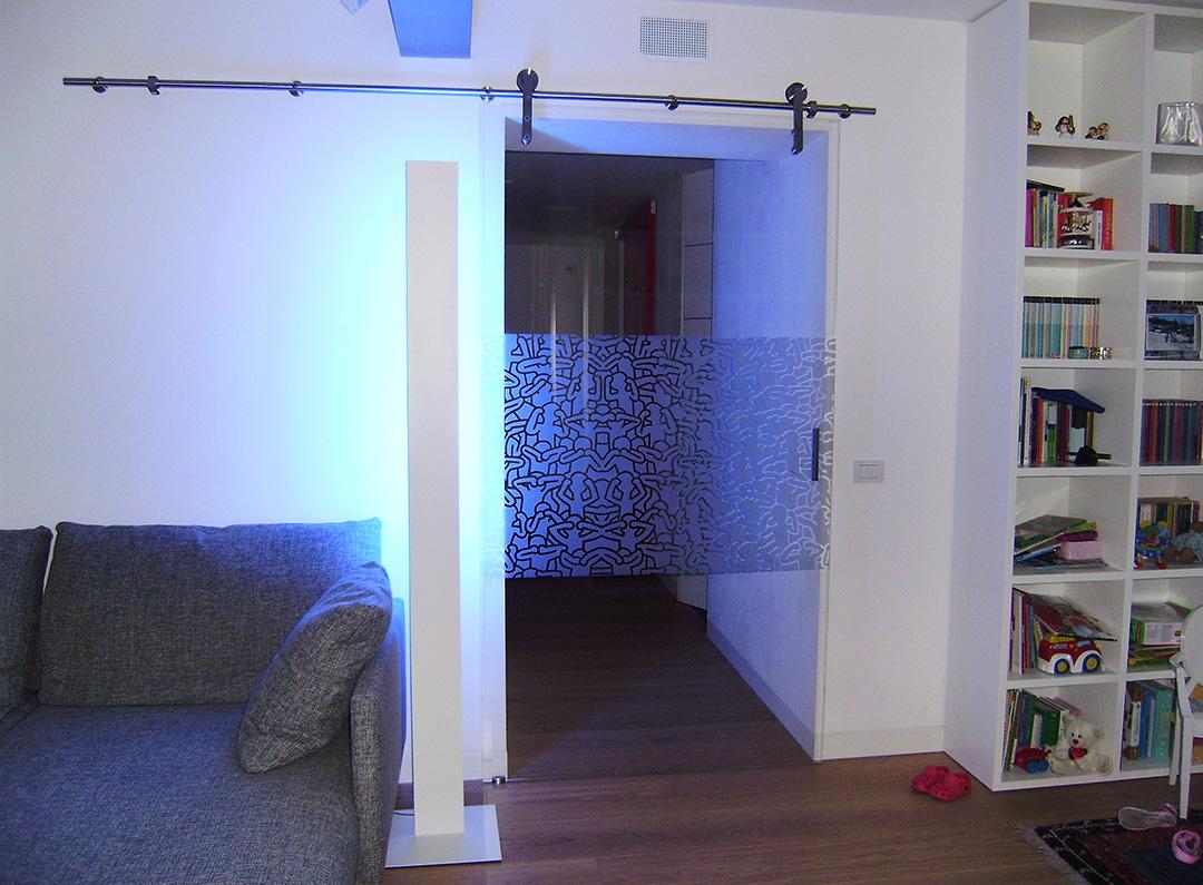 Porta Scorrevole Su Muro Portante porte a battente in vetro temprato ad alta sicurezza